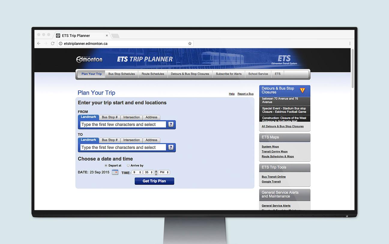 foto de ETS Trip Planner: Web App - Trevor van Gorp