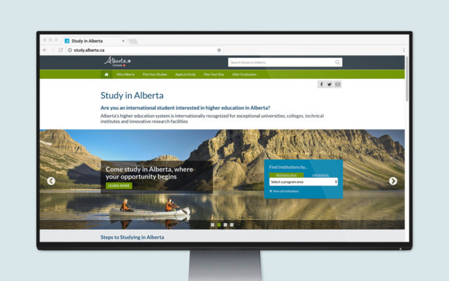 Study in Alberta: Website