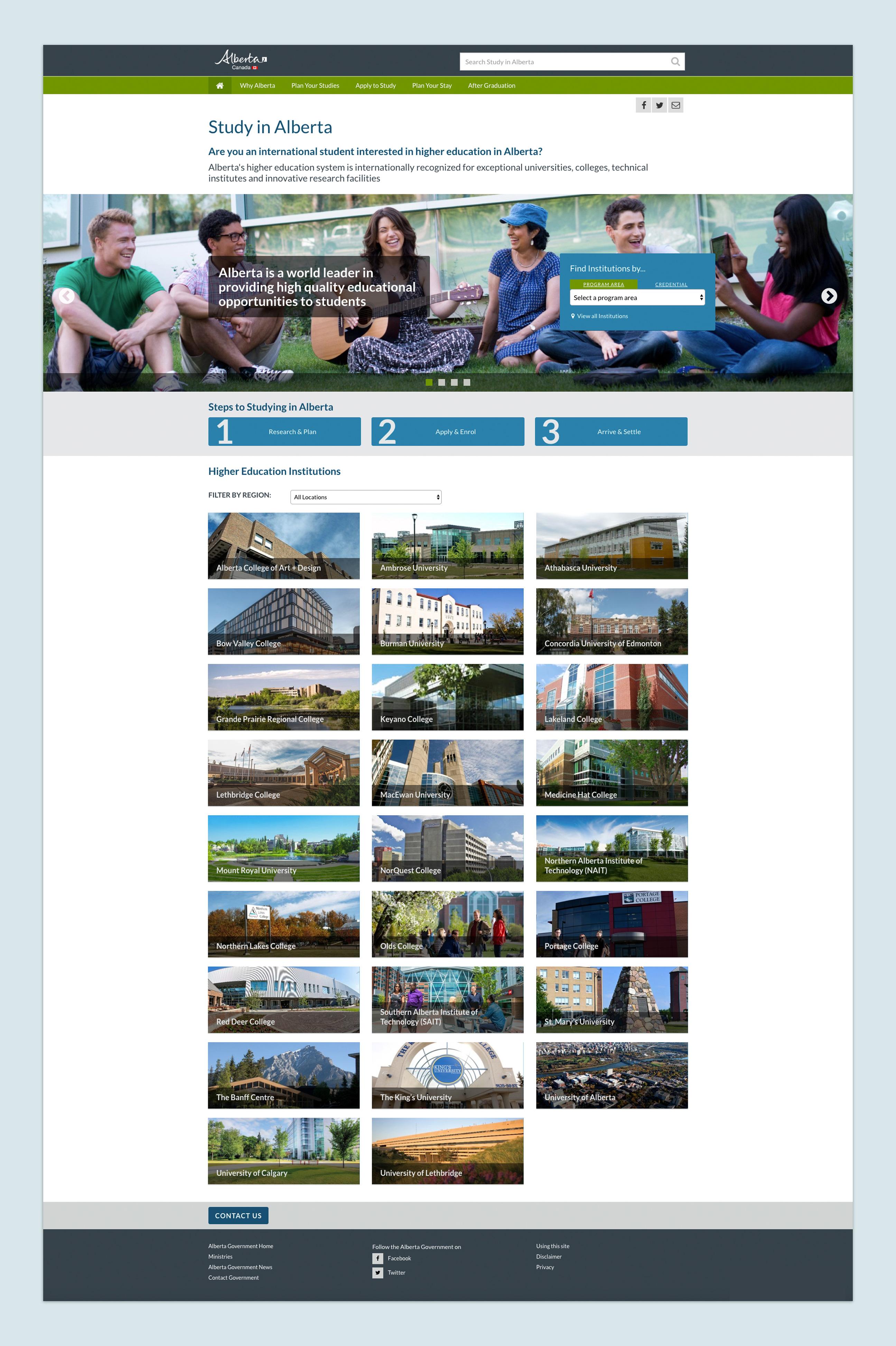 Study in Alberta Website